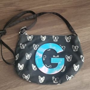 Adorable Justice girls puppy purse bag *Letter G*